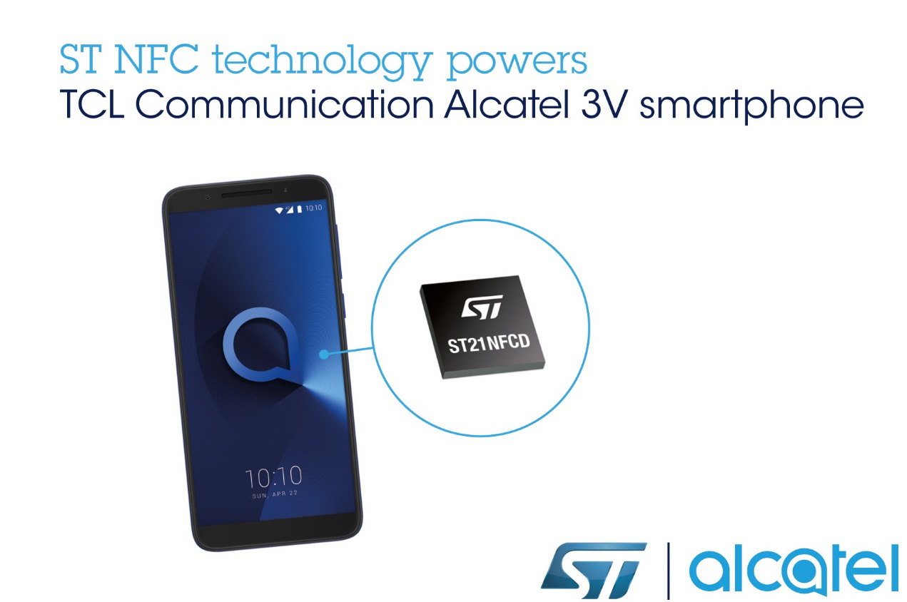 STMicroelectronics' NFC technology is powering the Alcatel smartphone for European market-SemiMedia